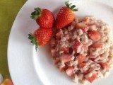 Ricetta bio Risotto alle fragole